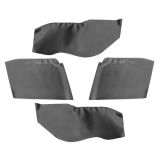 1967-1969 Camaro Convertible Rear Arm Rest/Piston Covers Black