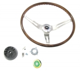 1969 Camaro Rosewood Steering Wheel Kit With Tilt