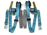 1978-1981 Camaro Seat Belt Kit, Front & Rear, Bright Blue