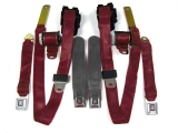 1974-1981 Camaro Seat Belt Kit, Front & Rear, Maroon