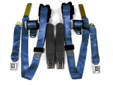 1974-1981 Camaro Seat Belt Set Navy Blue