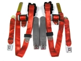 1974-1981 Camaro Seat Belt Kit, Front & Rear, Red