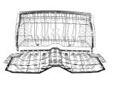 1967-1969 Chevrolet Rear Seat (67-69 Cpe Std / 68-69 Cpe Dlx)