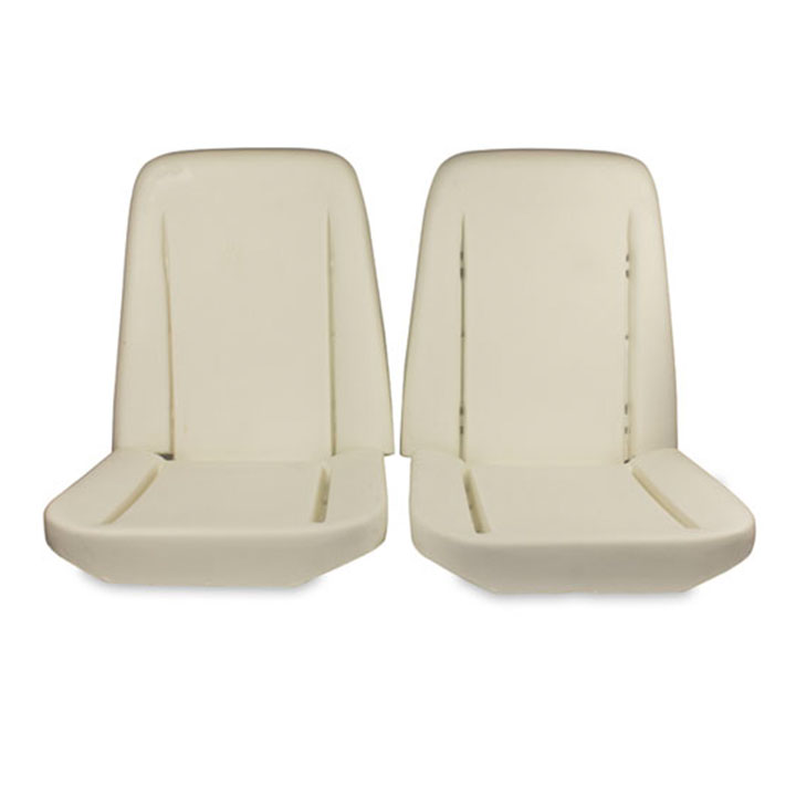 1968-1971 Nova (ex. 1967 SS) Bucket Seat Foams Pair with Listing Wire