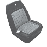 1968 Camaro Houndstooth Bucket Seat Covers, Black