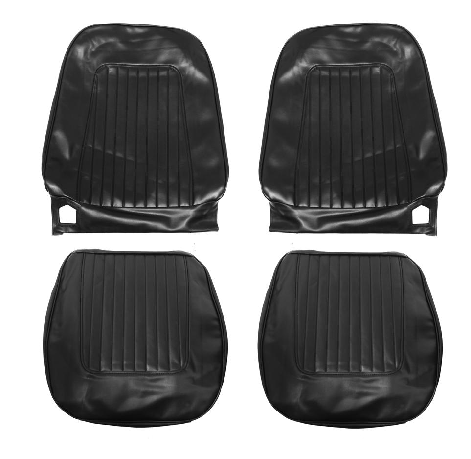 1967-1968 Camaro Standard Bucket Seat Covers, Black