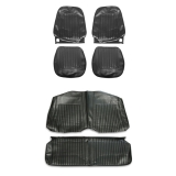 1967-1968 Camaro Convertible Standard Bucket Seat Cover Kit, Black