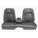 1968 Camaro Deluxe Front Bench Seat Covers, Black