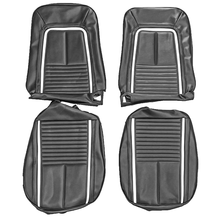 Excellent 1968 Camaro Convertible Deluxe Bucket Seat Cover Kit In Black Onthecornerstone Fun Painted Chair Ideas Images Onthecornerstoneorg