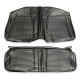 1969 Camaro Coupe Standard Rear Seat Covers In Black