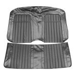 1969 Camaro Convertible Deluxe Comfortweave Rear Seat Covers, Black