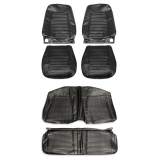 1969 Camaro Convertible Standard Bucket Seat Cover Kit, Black
