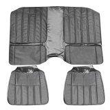 1970 Camaro Deluxe Comfortweave Rear Seat Covers in Black M10