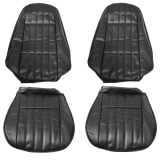 1971-1973 Camaro Standard Front Seat Covers in Black M10