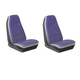 1971-1977 Camaro Standard Cloth Rear Seat Covers, Black M10