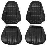 1974-1976 Camaro Standard Rear Seat Covers, Black M10