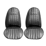 1977 Camaro Standard Front Seat Covers in Black S70