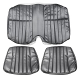 1978-1979 Camaro Standard Rear Seat Covers, Black S70