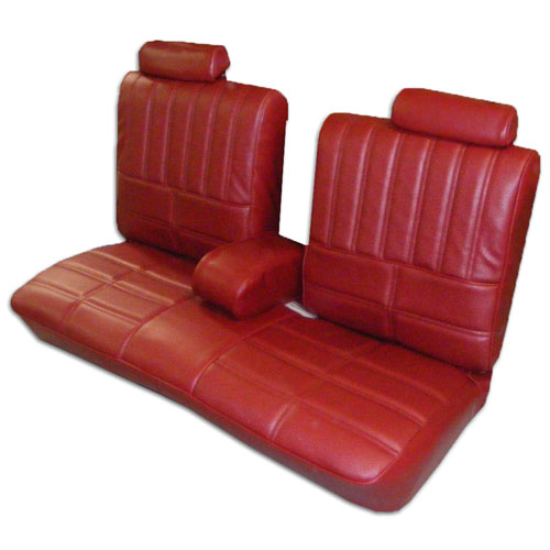 1979 Oldsmobile Cutlass Supreme 55 45 Split Bench Seat Covers Red 38