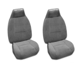 1980-1981 Camaro Berlinetta Custom Vinyl Bucket Seat Covers, Black S70