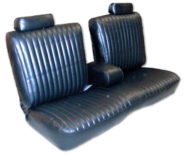 1981 Monte Carlo 2dr Bench Seat Covers W Arm Rest Claret 01