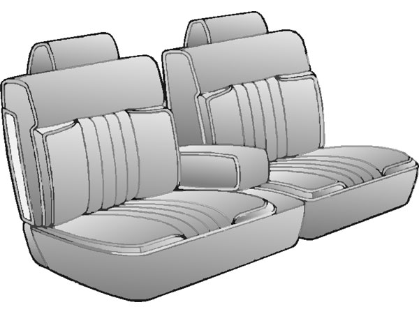 1982 1986 Monte Carlo Cl 2dr 55 45 Bench Seat Covers W