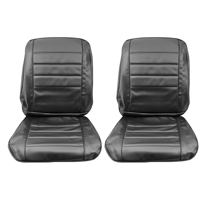 1965 Chevelle Bucket Seat Covers, Black