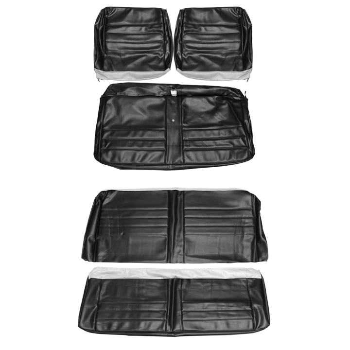 1965 Chevelle Convertible Bench Seat Cover Kit Black