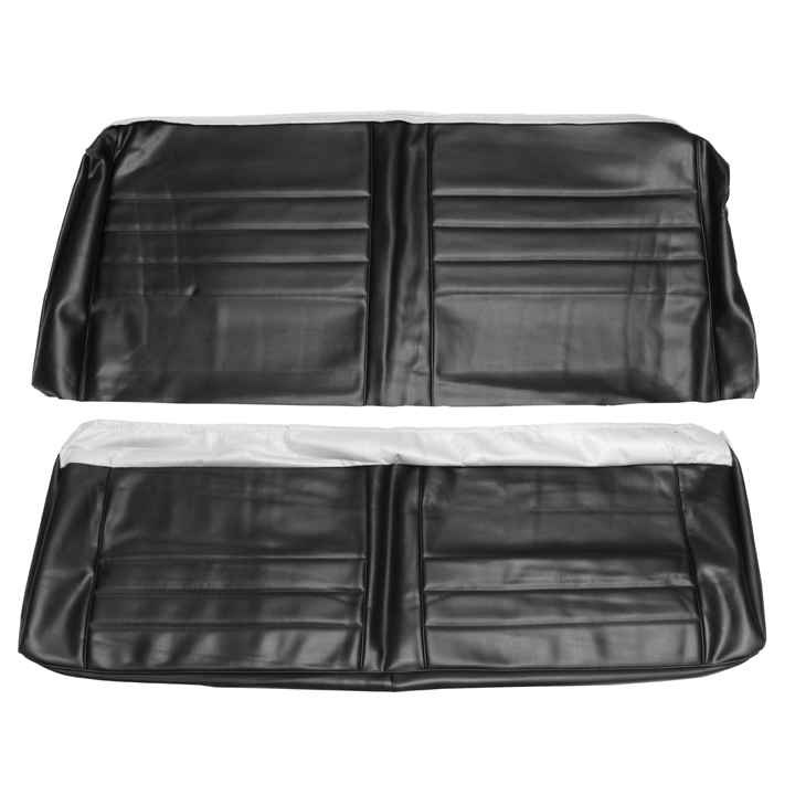 1965 Chevelle Coupe Rear Seat Covers, Black
