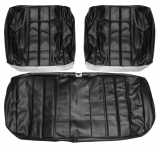 1966 Chevelle Front Bench Seat Covers, Black