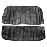 1966 Chevelle Coupe Rear Seat Covers, Black