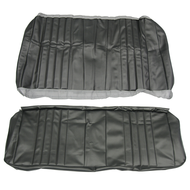 1968 Chevelle Coupe Rear Seat Covers, Black
