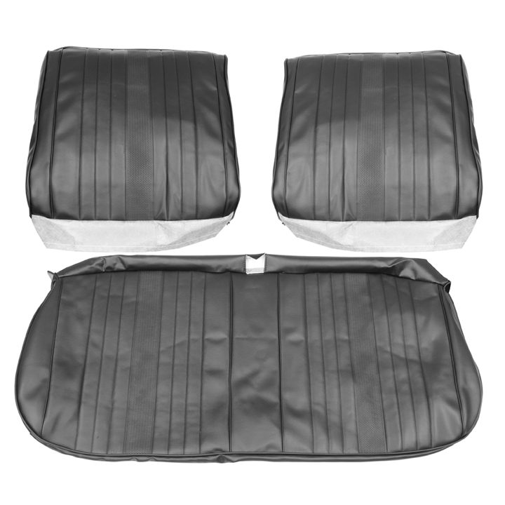 1969 Chevelle Front Bench Seat Covers, Black