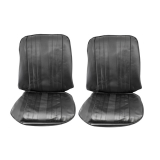 1969 Chevrolet Front Bucket Seat Covers, Black