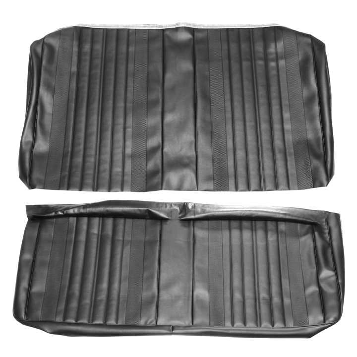 1970 Chevelle Coupe Rear Seat Covers, Black