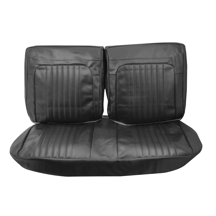 1971-1972 Chevelle Front Bench Seat Covers, Black