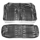 1971-1972 Chevelle Coupe Rear Seat Covers, Black