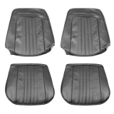 1971-1972 Chevelle Bucket Seat Covers, Black