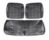 1965 Nova Seat Covers Front Split Bench Black