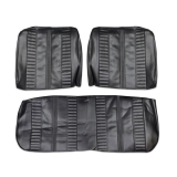 1967 Nova Repro SS Seat Covers Front Bench Black