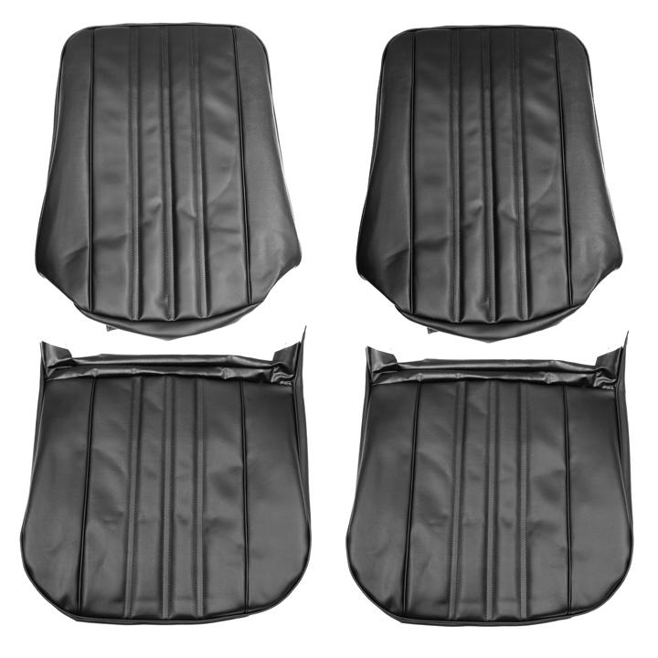 1968 Nova Custom Bucket Seat Covers, Black