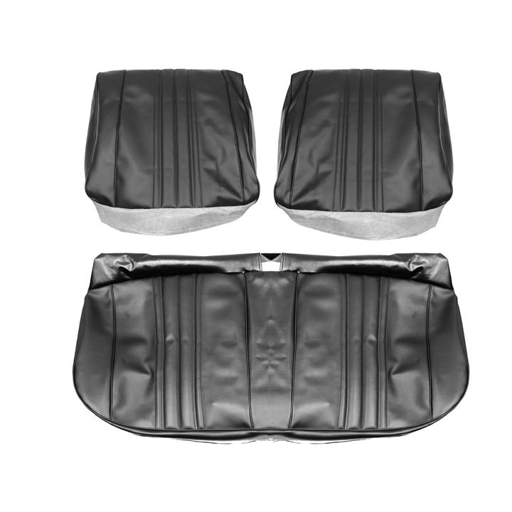 1968 Nova Standard Front Bench Seat Covers, Black