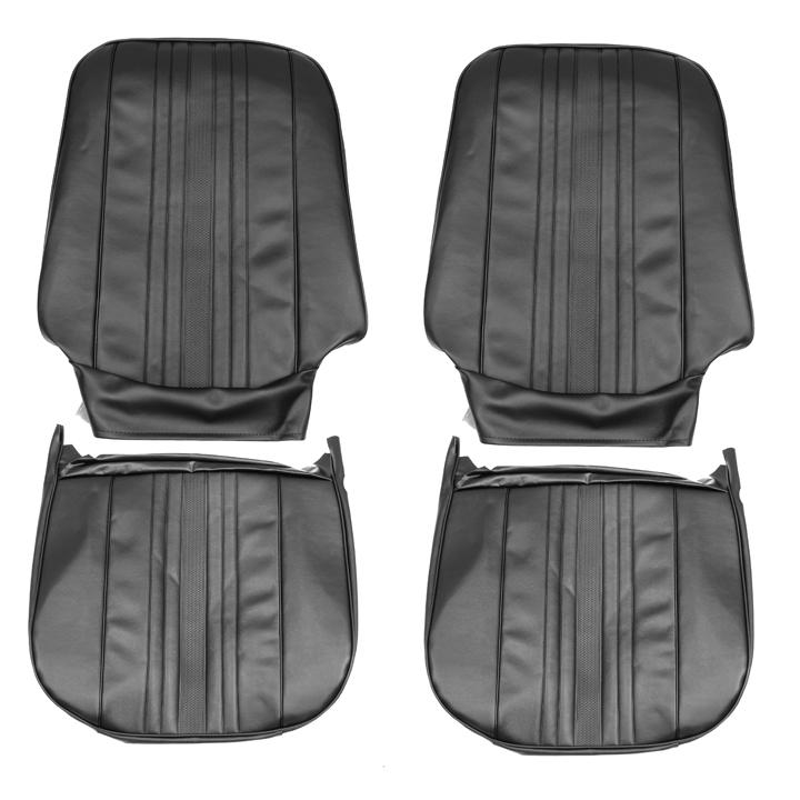 1969-1971 Nova Bucket Seat Covers, Black