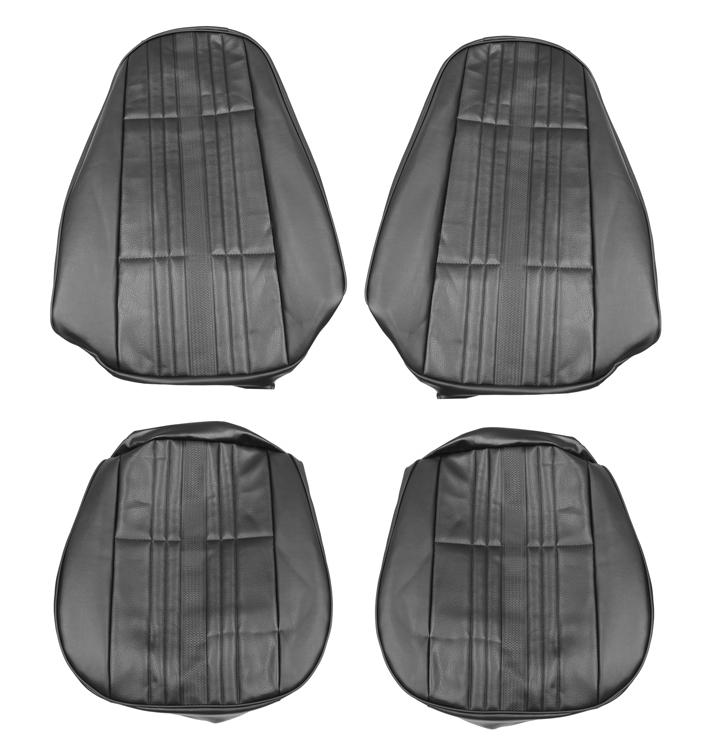 1972 Nova Bucket Seat Covers, Black