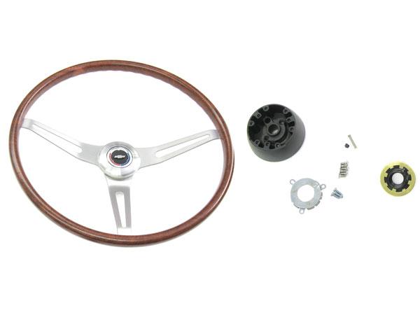 1967-1968 Camaro Walnut Steering Wheel Kit With Tilt
