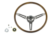 1967-1968 Camaro Walnut Sport Steering Wheel Kit w/ SS Emblem, w/ Tilt