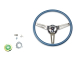 1969-1970 Nova Blue Comfort Grip Sport Steering Wheel Kit Without Tilt
