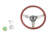 1969-1970 Nova Red Comfort Grip Sport Steering Wheel Kit Without Tilt