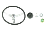 1969-1970 Nova Black Comfort Grip Sport Steering Wheel Kit Without Tilt
