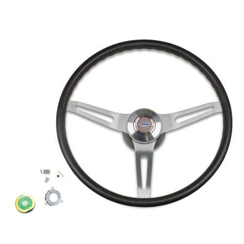 1969-1970 El Camino Black Comfort Grip Steering Wheel Kit w/ Yenko Emblem, Non-Tilt